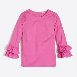 HP BEST IN TOPS,  J. Crew Double Ruffle Sleeve Top